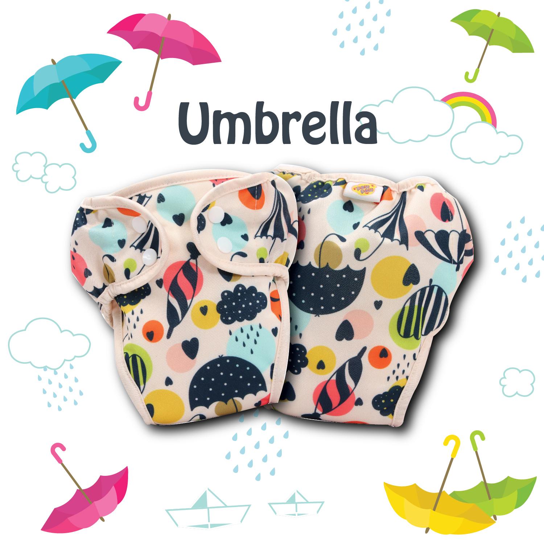 Paw Paw Diaper - Umbrella Print