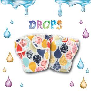 Paw Paw Diaper - Drops Print