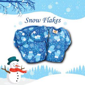 Paw Paw Diaper - Snow Flakes Print