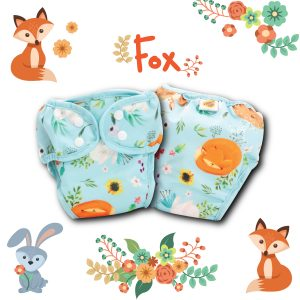 Paw Paw Diaper - Fox Print